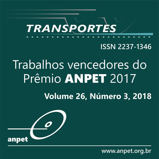 V. 26, N. 3, 2018 -- Prêmio ANPET de Produção Científica